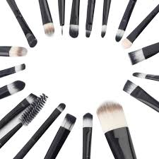 20pcs print logo makeup brushes professional cosmetic make up brush set beauty health