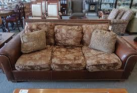 century leather studded sofa