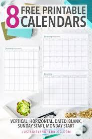 Printable Calendar 8 Beautiful Free Calendars Abby Lawson