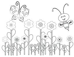 Free Coloring Pages Spring Top Free Printable Spring Coloring Pages