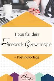 So Hostest Du Ein Facebook Gewinnspiel Richtig Postingvorlage