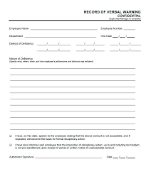 Verbal Warning Sample Related Post Verbal Written Warning Form Formal Recent Posts