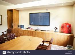 office space memorabilia. Manchester Oxford Court PFA Office Boardroom Football Caps Framed Used Large Table Memorabilia Space Interior N