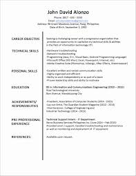 Resume Simple Resume Examples And Samples Free For Students
