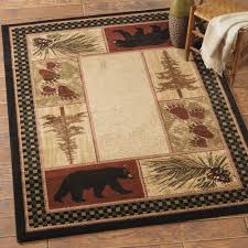 most wildlife area rugs rustic including moose and bear black forest