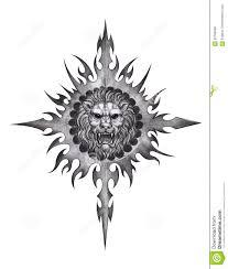 татуировка льва искусства иллюстрация штока иллюстрации