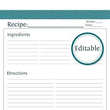 pages recipe card template printable best images on cards within free full page for word