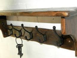 Vintage Coat Rack With Shelf Magnificent Reclaimed Wood Hat And Coat Rack With Shelf And Black Cast Iron
