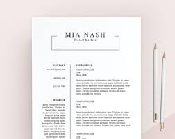 Clean Resume Template Cover Letter Cv Template Simple