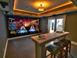 Decorating: Luxury Game Room With Large Screen - Game Room Setup
