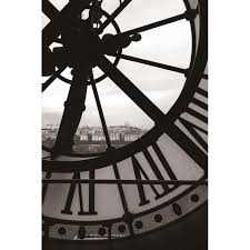 painting on glass clock black white image 36714