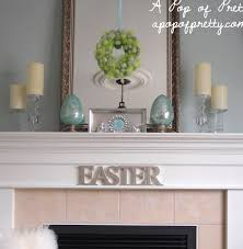 Easter Decorating Ideas: Decorate a Simple Easter Mantel! - A Pop of Pretty  Blog (Canadian Home Decorating Blog - St. John's, Canada)