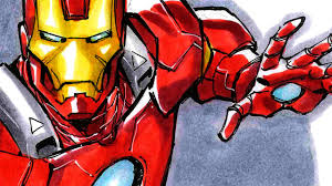 Iron man can be considered as the brother of spiderman! Todd Nauck Inking Coloring Iron Man Sdcc 2014 Youtube