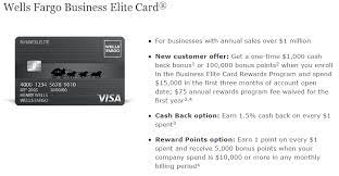 Wells fargo business elite card rewards® offers more — choices, value, and flexibility. Wells Fargo Business Elite Credit Card Review 1 000 Sign Up Bonus 1 5 Cash Back On All Purchases Spend Requirement Reduced Doctor Of Credit