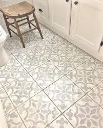 diy bathroom floor six impressive projects using tile stencils stencil stories diy bathroom floor tile removal