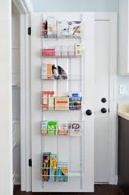 Behind the door pantry shelves, $35. can hook over top of or be installed directly on back door. Adding Tons Of Pantry Storage \u0026 Function   organizing Pinterest