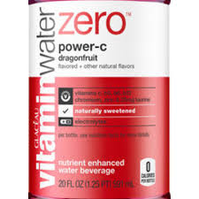 Vitamin Water Nutrition Chart Calories In Vitamin Water Zero Power C Dragonfruit From Glaceau