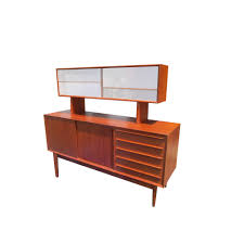 Vintage Mid Century Danish Credenza with Floating Hutch