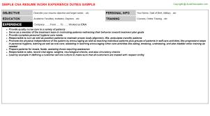 Cna Duties Resume Cool Cna Duties Resume Resume Badak