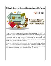 5 Simple Steps To Choose Effective Payroll Software