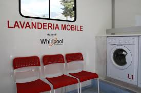 Laundromat furniture Lounge Seating First Ever Mobile Laundromat Mobile Laundromat By Whirlpool Corporation Delivered To Amatrice Airswapinfo Whirlpool And The Italian Red Cross Italys First Mobile Laundromat
