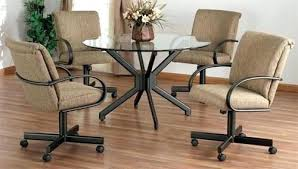 kitchen chair with wheels dinette chairs
