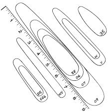Elmer Hinckley Fishing Tackle Size Chart