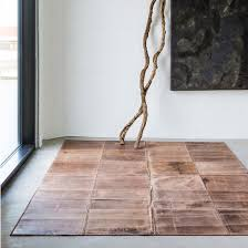 massimo rugs leather rug light brown