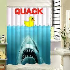 image of duck shower curtain design giraffe riding shark shower curtain uk bathroom ideas shark shower