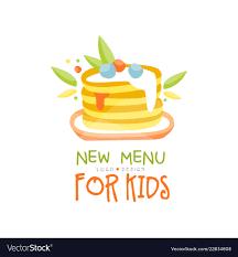 New Menu For Kids Logo Design Healthy Organic