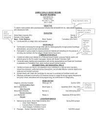 Sample Skills Resume Sales Job Skills Resume For A Sample Technical Examples How To List