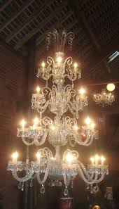 stunning huge 4 tier 28 arm antique crystal chandelier c1920 fully rewired