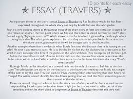 tips for an application essay a sound of thunder essay a sound of thunder is a short story written by ray bradbury