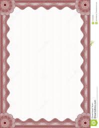 Red Certificate Border Stock Vector Illustration Of