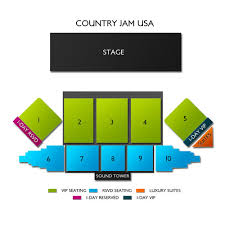 Country Jam Vip Seating Chart 2020 Country Jam 4 Day Pass 6 18 6 21 Mack Tickets 6