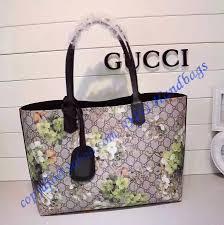 gu368568fl black gucci reversible gg blooms leather tote jpg