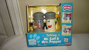 blues clues mr salt and mrs pepper. Blues Clues Talking/Singing Mr. Salt And Mrs. Pepper Playset 1999 FISHER PRICE Mr Mrs