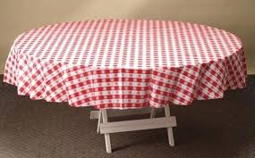 red gingham disposable plastic tablecloth red gingham round plastic table covers inch bulk my paper