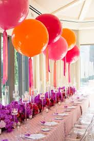 Good Color Scheme for Mom's violet, coral pink and red Round Balloons  Pinks, Orange & Red a beautiful display for a wedding or birthday party
