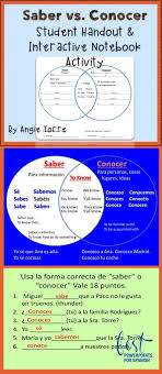 Spanish Saber And Conocer Interactive Notebook Activity And