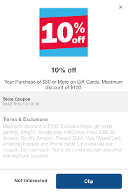 expired meijer 10 off up to 1 000 in third party gift cards 100 doctor of credit