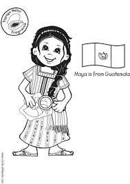 Kleurplaat Maya Uit Guatemala Met Vlag Afb 5637 Images