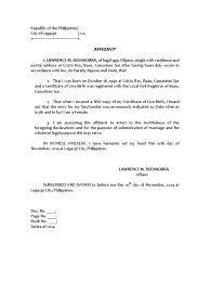 No Name On Birth Certificate Affidavit Sample Arc Epic No Birth