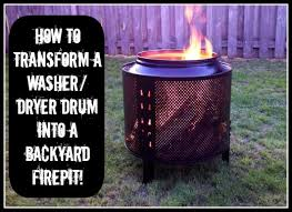 diy how to make a backyard firepit out of a salvaged dryer drum