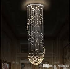 led k9 crystal chandeliers lights stairs hanging light lamp indoor lighting decoration with d70cm h200cm chandelier light fixtures crystal chandeliers