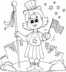 Small Picture patriotic girl coloring page coloringcom
