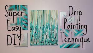 how to paint on canvas elegant drip paint canvas diy