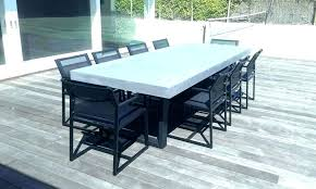 concrete top coffee table outdoor dining resin tub chair regarding decor concrete outdoor dining table o7
