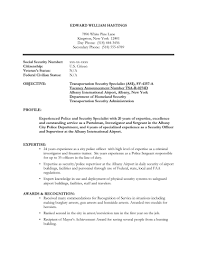 Security Guard Resume Objective Section Of What For Graduate