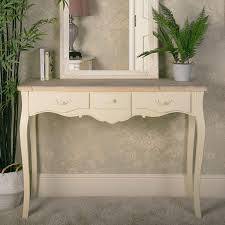 cream three drawer console table belfort range
